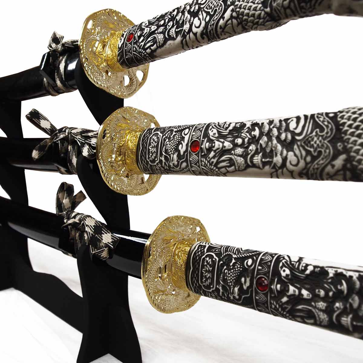 highlander samuraischwert set katana wakizashi tanto schwertst nder. Black Bedroom Furniture Sets. Home Design Ideas